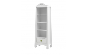 Parole – bookcase, white+green