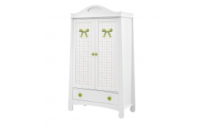 Parole - 2-door wardrobe + overprint, white+green