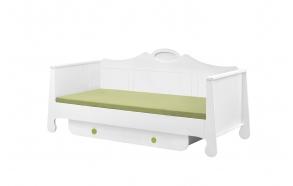 Parole - bed 200x90, white+green