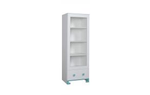 ToTo - bookcase,white+turquoise