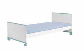 ToTo - junior bed 160x70,white+turquoise