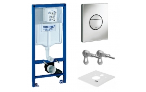 Grohe Rapid drywall cistern 3 in 1, incl fixing and chromed dual flush plate