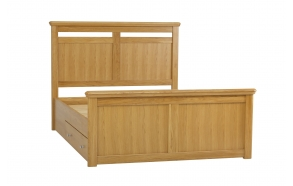 King size solid bed with storage EU