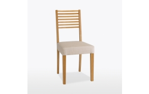 Ladder back low chair (fabric)