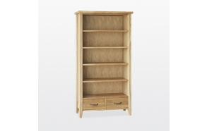 Tall bookcase 2 drawers