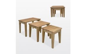 kolm üksteise sisse paigaldatavat lauda