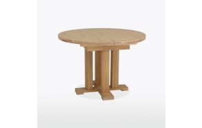 Table - round, extending, single pedestal