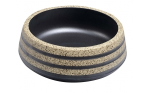 PRIORI ceramic basin, black/stone