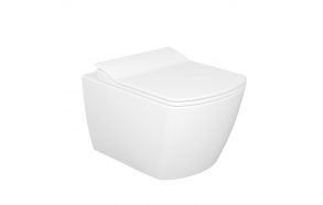 rimfree wall hung toilet Elegant, white, without seat