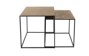 Side Table Saffra Set Of 2  - 46x46x46 cm and 40.5x40.5x40.5 cm