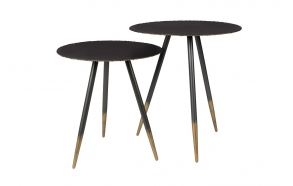 Side Table Stalwart Set Of 2 - diam 45 cm h: 50 cm and diam 40 cm h: 44 cm