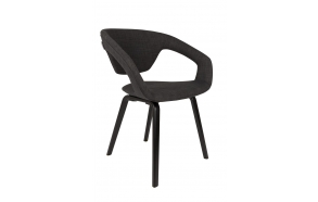 Armchair Flexback Black/Dark Grey