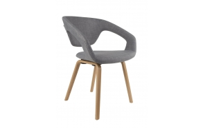 Armchair Flexback Natural/Grey