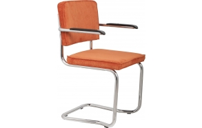 Armchair Ridge Kink Rib Orange 19A