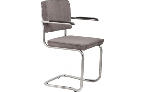 Armchair Ridge Kink Rib Grey 6A