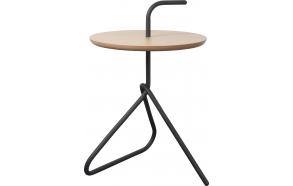 Side Table Handle Bamboo Black