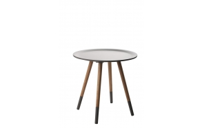 Side Table Two Tone Dark Grey