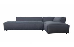 Sofa Fat Freddy Right Comfort Grey/Blue 81