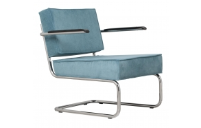 Lounge Chair Ridge Rib Arm Blue