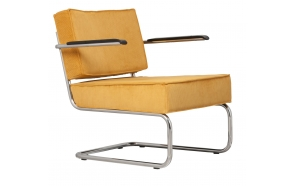 Lounge Chair Ridge Rib Arm Yellow