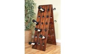 """16""""L x 48""""H Fir Floor Wine Rack, Holds 36 Wine Bottles"""