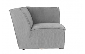 Element Sofa James Corner Rib Cool Grey