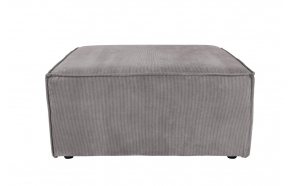 Element Sofa James Hocker Rib Grey