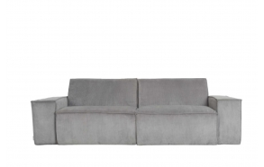 Sofa James 2-Seater Rib Cool Grey Web