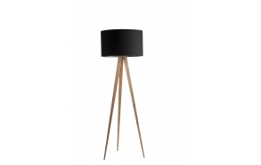 Floor Lamp Tripod Wood Black