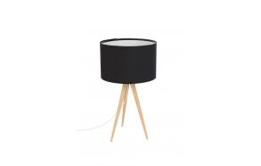 Table Lamp Tripod Wood Black