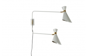 Wall Lamp Double Shady Grey