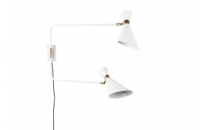 Wall Lamp Double Shady White