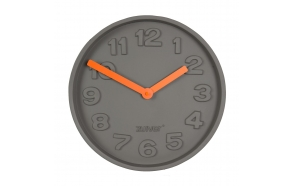 Clock Concrete Time Orange
