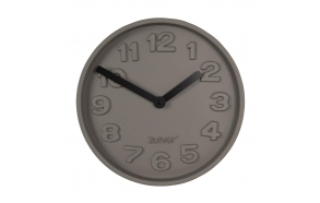 Clock Concrete Time Black