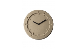 Clock Pulp Time Round Beige