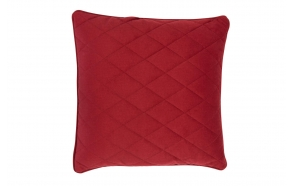 Pillow Diamond Square Royal Red