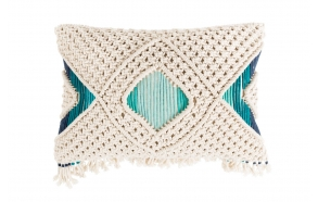 Pillow Evi Ivory Teal
