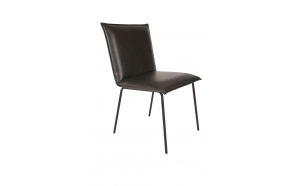 chair Floke, black PU leather