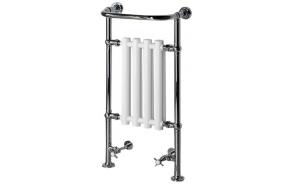 CORK Towel Radiator 495x945 mm, chrome/white