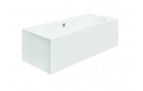 acrylic bath Vita, 170x75 cm, drain in the middle +feet+long side panel