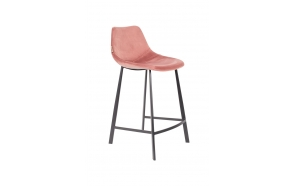 Counter Stool Franky Velvet Old Pink