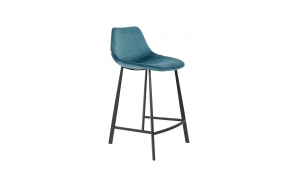 Counter Stool Franky Velvet Petrol