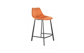 Counter Stool Franky Velvet Orange