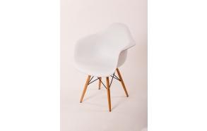 chair Beata, white, beech feet