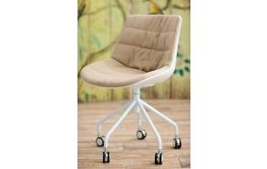 office chair Henrik w. wheels, fabric MB274-4
