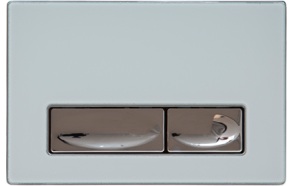 DESIGN FLUSH PLATE WHITE METAL+GLASS