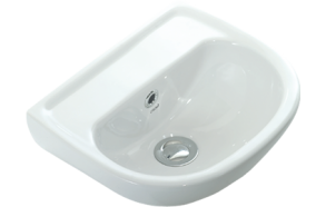29*35 CM OVAL W.BASIN WITH HOLE WHITE