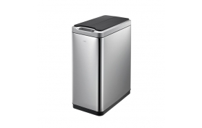 PHANTOM sensor pedal bin 20l, soft close, brushed stainless steel