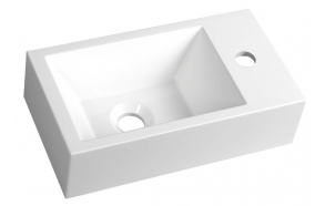 cast marble basin Amarok, 40x22 cm, faucet on right
