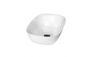 cast marble basin Reiko, worktop mount, white